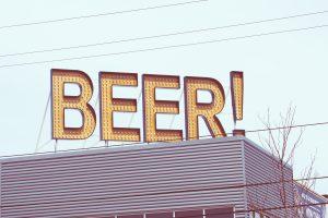 Beer sign - prompt action with BI dashboard design