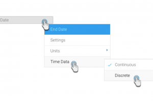 Yellowfin 7.4 Little Things: Presenting data according to discrete time junctures