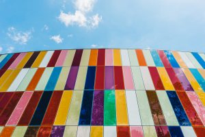 Colours on a building - BI dashboard design colours