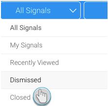 Manage Yellowfin Signals - undoing a dismissal