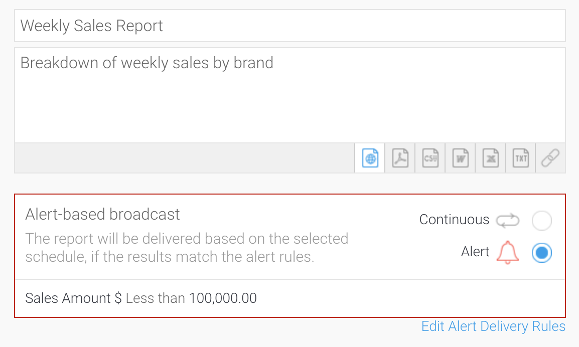 automated analytics alert
