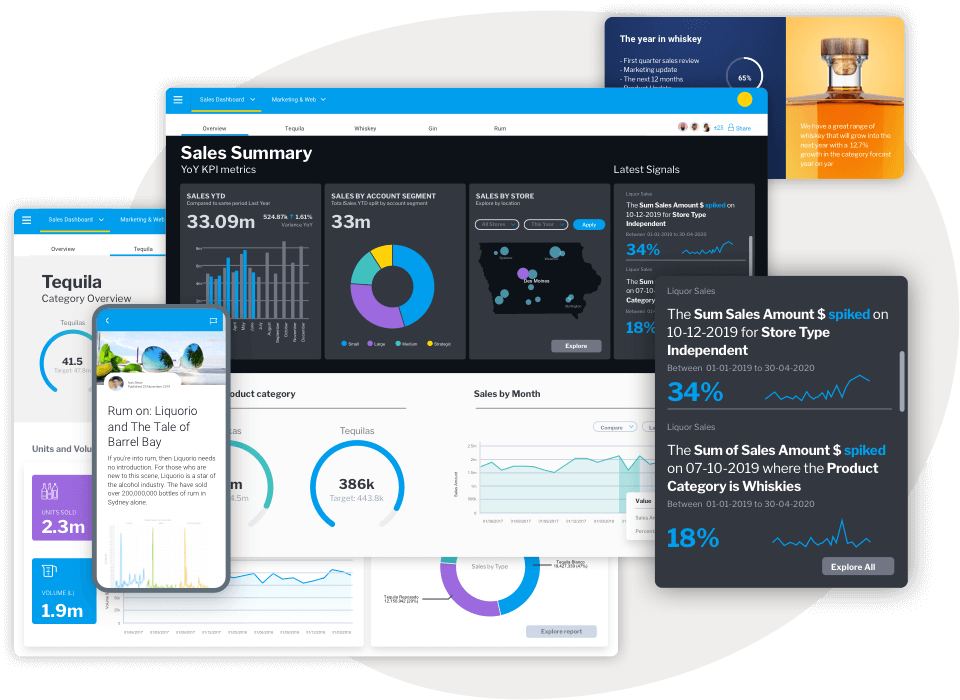 Part of an integrated Analytics Suite graphic