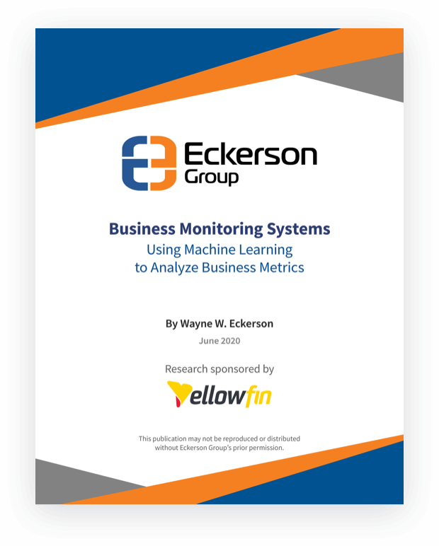 Business Monitoring Systems: Using Machine Learning to Analyze Business Metrics