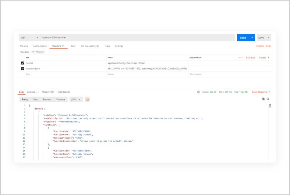 REST API improvements
