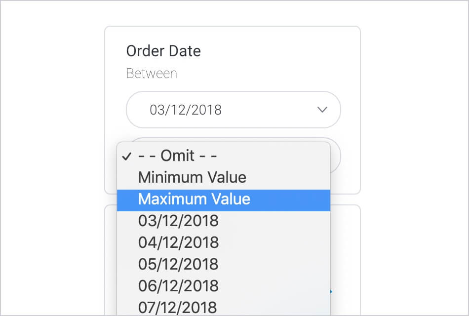 Toggle Minimum Maximum Values in Filters