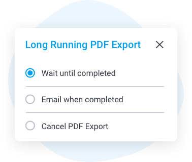 Background Execution Queue for PDF Exports icon