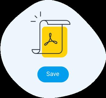 Save to PDF icon