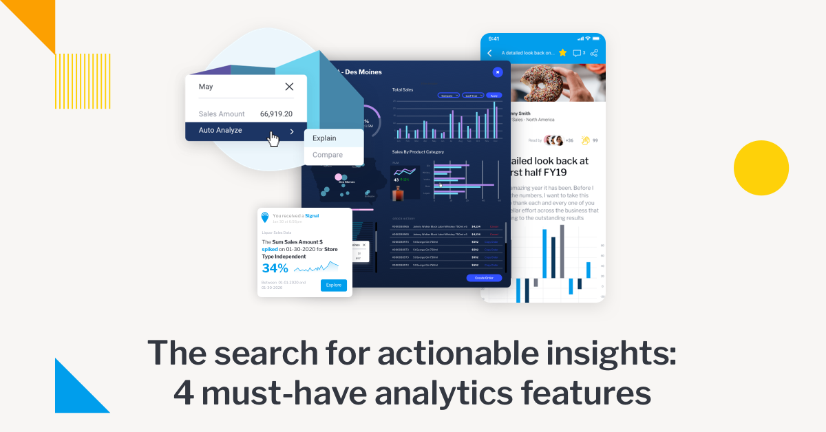 Yellowfin BI actionable insights definition