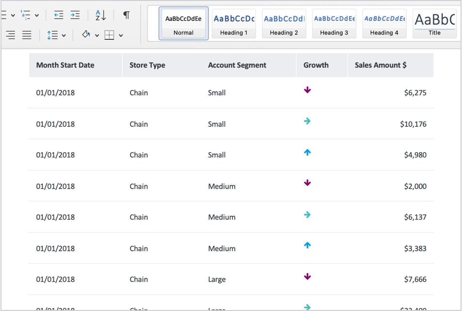 Support for Conditional Formatting Icons in Exports