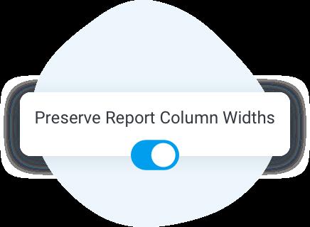 Preserve column widths
