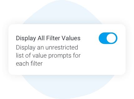 Unrestricted filter values
