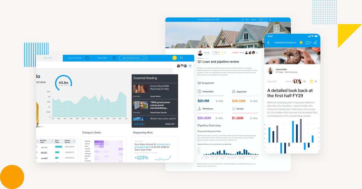 Stories 5 key features Yellowfin BI data storytelling