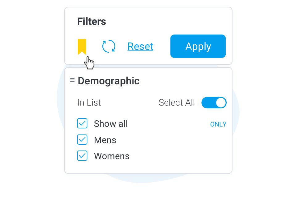 Dashboard Filter Bookmarks